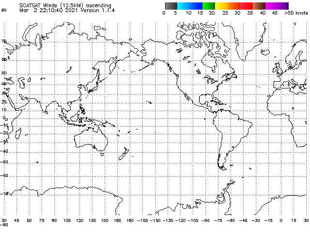 ASCAT Scatterometer surface winds.