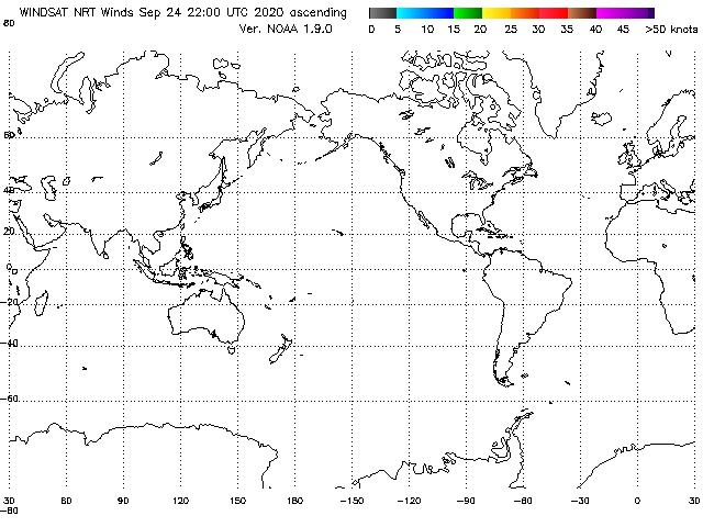 WindSAT Ascending Pass, Lo-res (20x30deg)